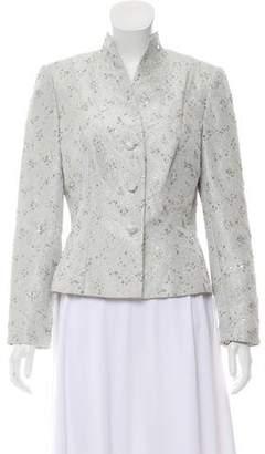 Carmen Marc Valvo Embellished Structured Jacket w/ Tags