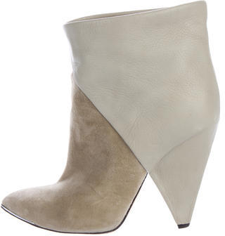 IROIro Suede Pointed-Toe Ankle Boots