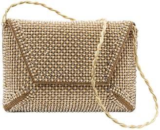 Stuart Weitzman Gold Glitter Clutch Bag