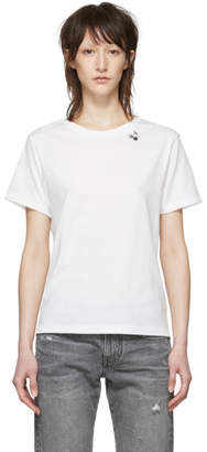 Saint Laurent White Cherry Logo T-Shirt