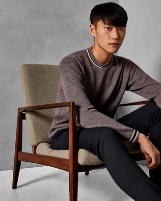 Ted Baker CURLYWU Striped trim wool sweater