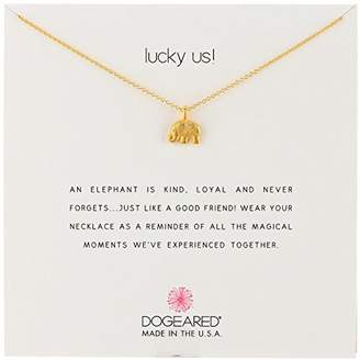 Dogeared Reminders- Lucky Us Sterling Silver Elephant Charm Necklace
