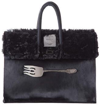William Paris Black Hair & Black Fur Bag