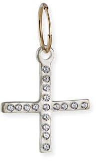 Lee Brevard Compass Cross Earring w/ Cubic Zirconia, Single