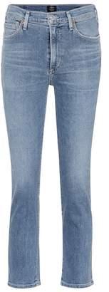 Cara high-waisted cigarette jeans