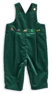 Florence Eiseman Baby Boy's Velvet Embroidered Overalls
