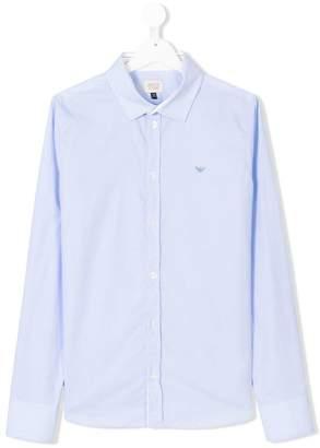 Armani Junior cutaway collar shirt