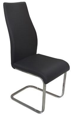 Orren Ellis Satterfield Rectangle Tube Base Upholstered Dining Chair (Set of 2) Orren Ellis