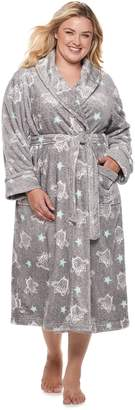 Sonoma Goods For Life Plus Size SONOMA Goods for Life Long Plush Wrap Robe