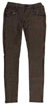 Hudson Low-Rise Pinstripe Jeans