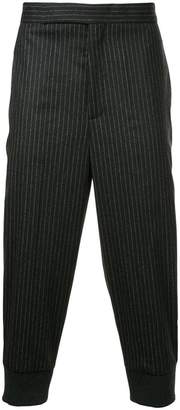 Neil Barrett pinstriped cropped trousers