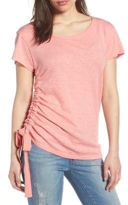 Caslon Shirred Sheer Tee