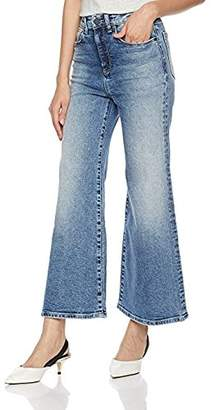 HALE Women's Orly High Waisted Wide Leg Jean