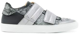 MM6 MAISON MARGIELA metallic touch strap sneakers