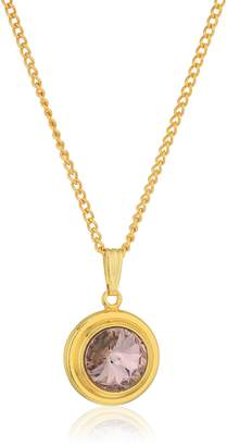 Alex and Ani Halos and Glories June Crystal Pendant Necklace