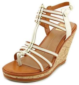 Dolce Vita Tenley Women 9.5 White Faux Leather Wedge Sandal