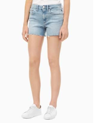 Calvin Klein light wash weekend shorts