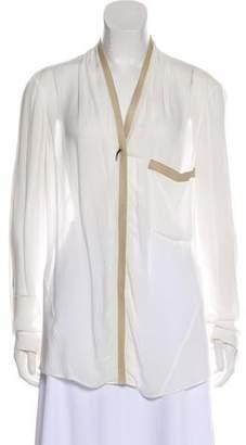 Helmut Lang Long Sleeve Lightweight Blouse