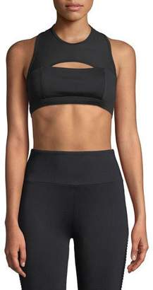Lanston Warren Cutout Racerback Sports Bra