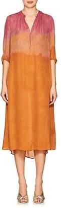 Raquel Allegra Women's Dégradé Silk Peasant Midi-Dress