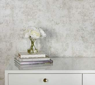 Pottery Barn Distressed Gold Leaf Pearl Wallpaper