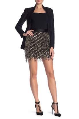 Milly Fil Coupé Fringe Miniskirt