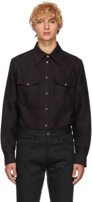 Isabel Marant Burgundy Check Victorh Shirt