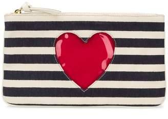 Moschino Cheap & Chic striped clutch bag