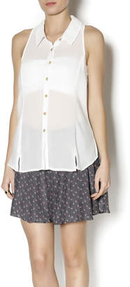 Free People Button Down Tank