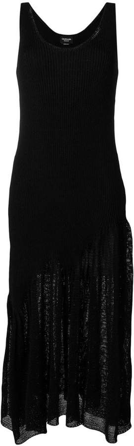 Calvin Klein 205W39nyc ribbed contrast weave dress