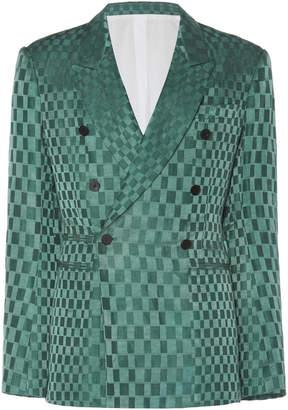 Haider Ackermann Double-Breasted Linen And Silk-Blend Jacquard Blazer