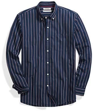 Goodthreads Men's Standard-Fit Long-Sleeve Pinstripe Chambray Shirt