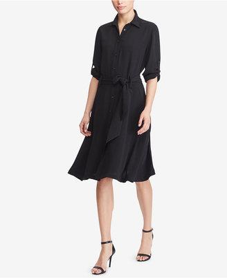 Lauren Ralph Lauren Fit & Flare Shirtdress $145 thestylecure.com