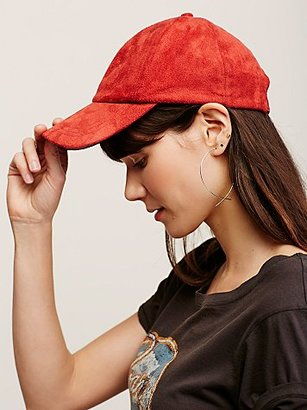 Free People Williamsburg Faux Suede Baseball Hat $28 thestylecure.com