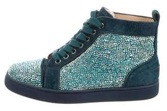 Christian Louboutin Embellished Lou Sneakers