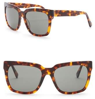 Joe's Jeans 58mm Oversized Sunglasses