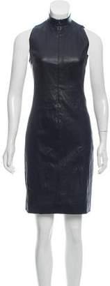 The Row Sleeveless Leather Dress