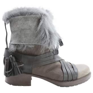 Vanessa Bruno Khaki Leather Ankle boots