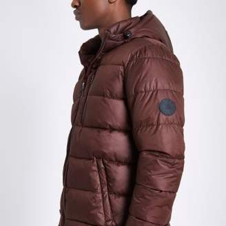 River Island Red hooded puffer jacket