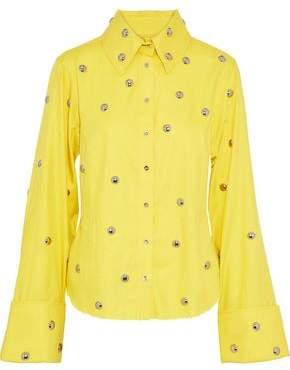 Marques Almeida Marques' Almeida Studded Cotton-Twill Shirt