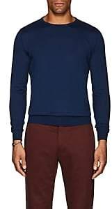 Fioroni Men's Fine-Gauge Knit Cashmere Sweater-Md. Blue