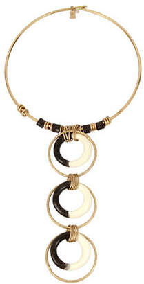 Robert Lee Morris SOHO Primal Connection Multi-Circle Totem Wire Collar Necklace