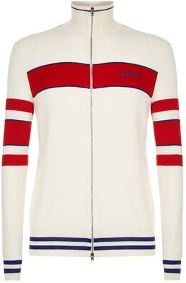 Alexander McQueen Striped Zip-Up Sweater