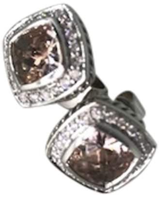 David Yurman Petite Albion Sterling Silver Morganite & Diamonds Earrings