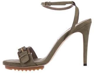 Stella McCartney Vegan Suede Ankle Strap Sandals