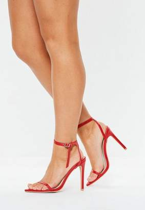 Missguided Skinny Strap Pointed Barely There Heels