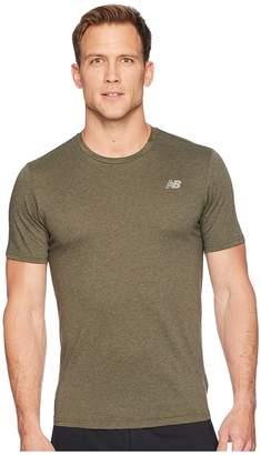 New Balance Heather Tech Short Sleeve Men's T Shirt