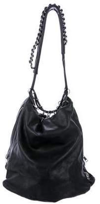 Alexander Wang Leather Shoulder Bag Black Leather Shoulder Bag