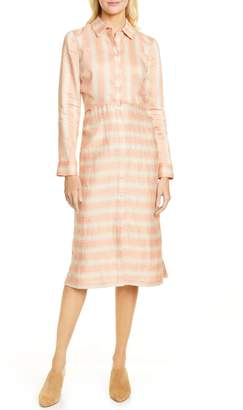 Rachel Comey Magnify Stripe Long Sleeve Shirtdress