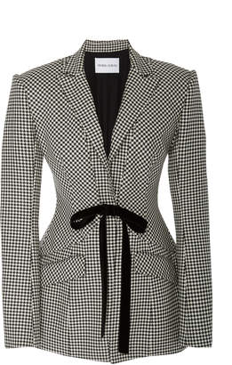 Prabal Gurung Gingham Wool Blazer
